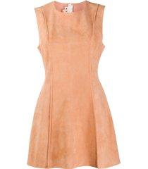 marni sleeveless panelled tunic - pink