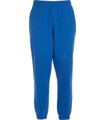 slim track pant blue