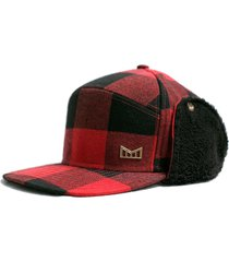 men's melin lumberjack snapback cap - red
