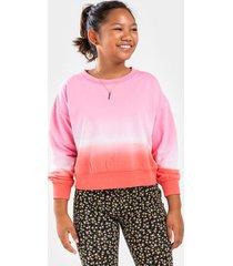 franki ombre tie dye sweatshirt for girls - pink