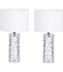 2 abajures lamp show amora vidro e teci
