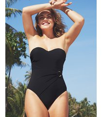 icon san marino underwire belted shaping bandeau one-piece swimsuit c-g