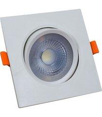 spot led 5 watts quadrado bronzearte easy, branco frio, 6400 k