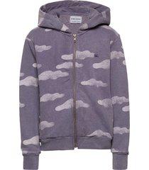 clouds all over zipped hoodie hoodie trui paars bobo choses