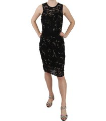 floral lace crystal schede jurk