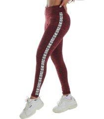 calça legging risca click mais bonita lateral vermelha