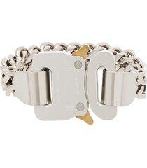 1017 alyx 9sm rollercoaster chain bracelet - silver