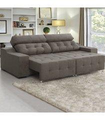 sofá 4 lugares retrátil e reclinável antares arábia - viero móveis