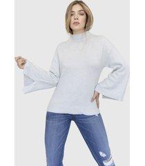 sweater manga campana eleanor gris racaventura