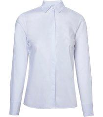 camisa dudalina feminina prega zíper feminina (branco, 42)