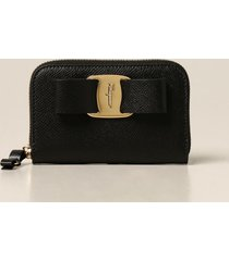 salvatore ferragamo wallet salvatore ferragamo business card holder with vara bow