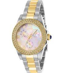 reloj invicta acero dorado modelo 284ig para dama, colección angel