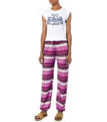 chevron crochet pants