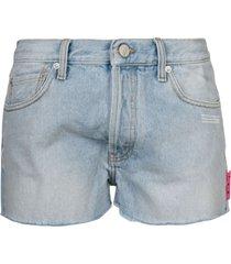 off-white classic denim shorts