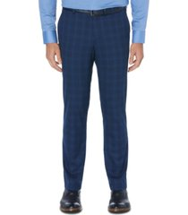 perry ellis men's portfolio slim-fit stretch windowpane dress pants