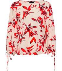 eliva crepe light ls top blouse lange mouwen roze french connection