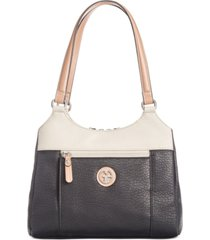 giani bernini colorblock pebbled 4-poster tote, created for macy's