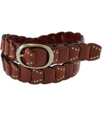 fashion focus accessories studded ladder braid leather belt