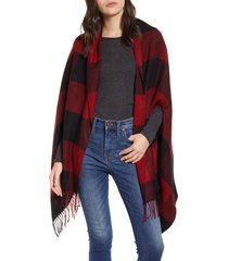 women's madewell buffalo check cape scarf