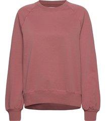 etta light sweatshirt sweat-shirt tröja rosa makia