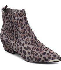boot 3,5 cm shoes boots ankle boots ankle boot - heel grå sofie schnoor