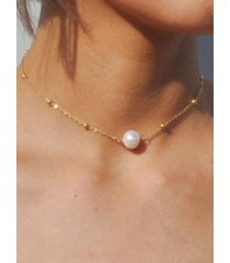 artificial collarbone necklace pearl