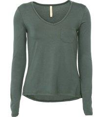 blusa lunender bolso verde - verde - feminino - viscose - dafiti