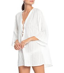women's robin piccone michelle tunic cover-up, size xx-large - white