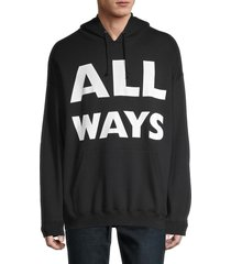 valentino men's all ways hoodie - nero - size xs