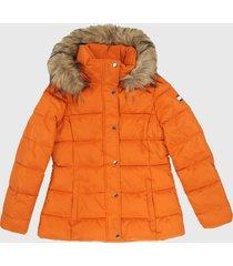 chaqueta naranja-beige tommy hilfiger