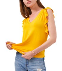 1.state ruffle-sleeve v-neck top