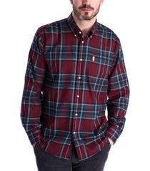 barbour men's thermoweave plaid shirt