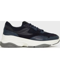 selected homme slhgavin trainer w sneakers mörk blå