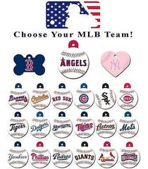mlb id dog tags * pick your team * baseball engraved identification charm tags