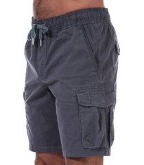 mens fine twill cargo shorts