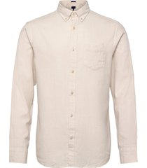 d2. windblown flannel reg bd overhemd business crème gant