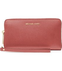michael kors salmon pink jet set wallet