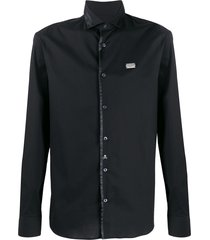 philipp plein statement platinum shirt - black