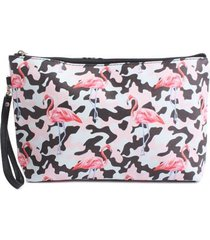 cosmetiquera flamingos color surtido, talla uni