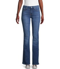 7 for all mankind women's kimmie bootcut jeans - blue nova - size 26 (2-4)
