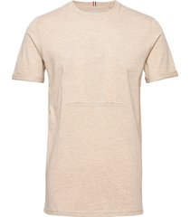 embossed encore t-shirt t-shirts short-sleeved beige les deux