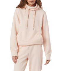 favorite daughter funnel neck hoodie, size x-large in light pink at nordstrom