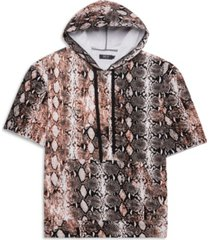 mvp collections by mo vaughn productions men's big tall python print short sleeve hoodie