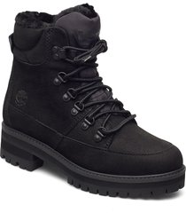 courmayeur hiker wp fur lined shoes boots ankle boots ankle boot - flat svart timberland