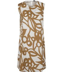 aspesi rear zip printed sleeveless dress