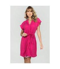 camisola amamentação com robe bella fiore modas rosa