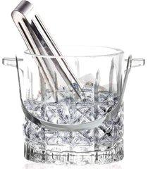 balde de vidro para gelo com pegador 15x13x14cm gala