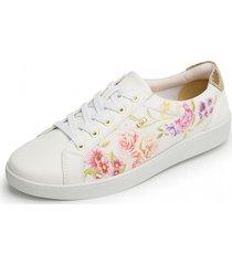 zapato kinoa casual flores flexi