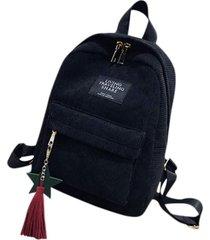 bolso mujer maleta pana suave pequeño 3011 negro