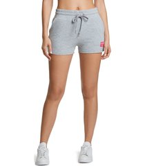 women's juicy couture boyfriend shorts, size large - grey